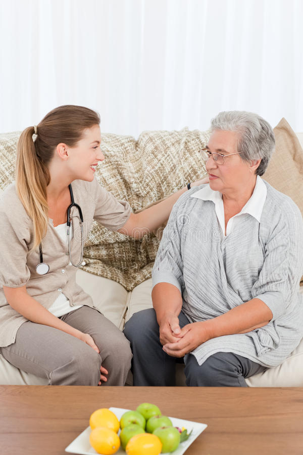Download Nurse Talking With Her Patient Stock Photos - Image: 18108693