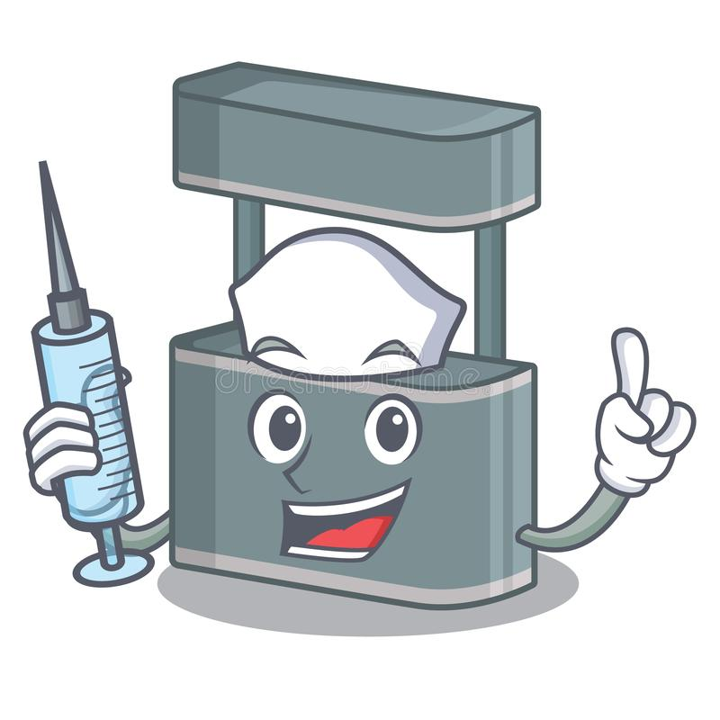 Nurse trade stand in the character shape. Vector illustraton vector illustration
