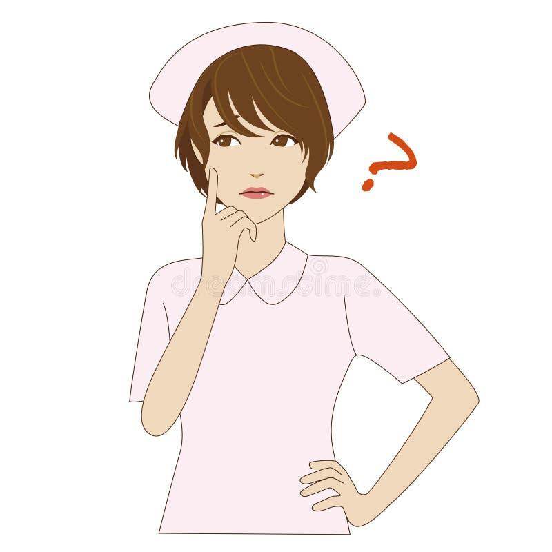 Nurse In Uniform Thinking Stock Image Image Of Japanese