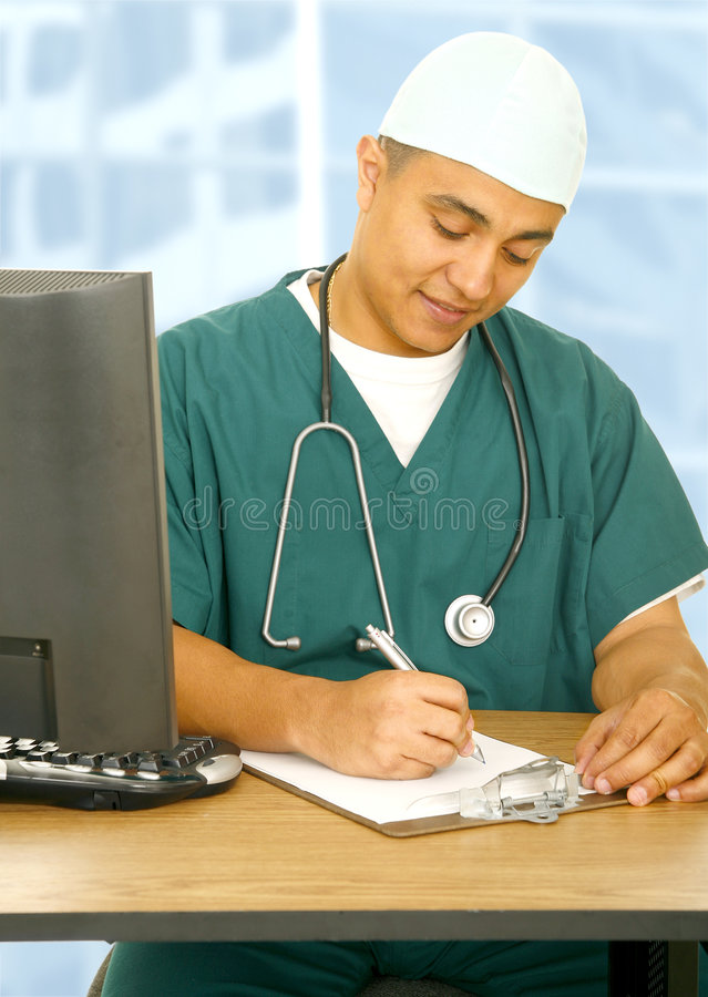 Download Nurse Writing On Clip Board Stock Image - Image of model, profession: 5633205