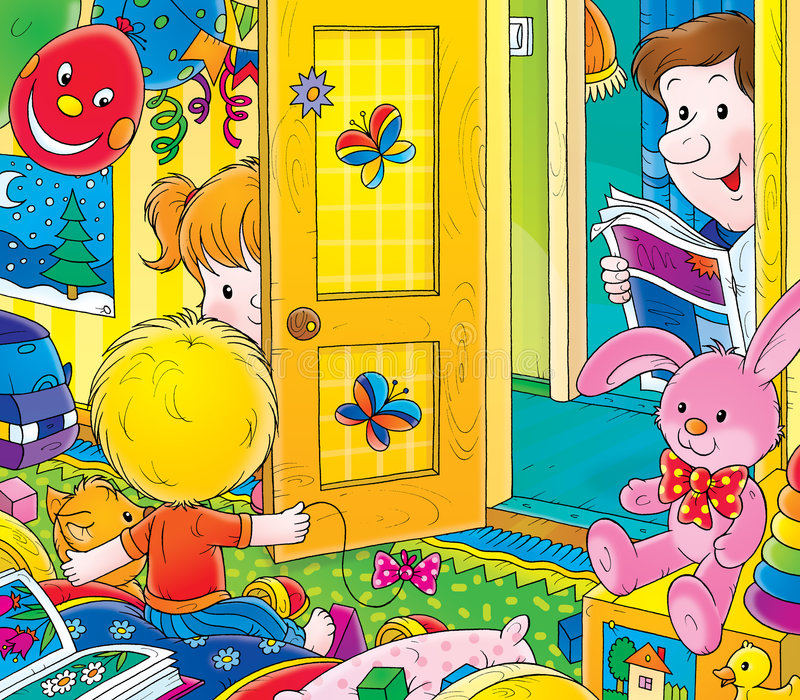 Download Nursery stock illustration. Illustration of family, cheerful - 2984432