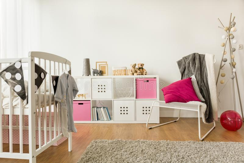 Nursery for baby girl royalty free stock photo