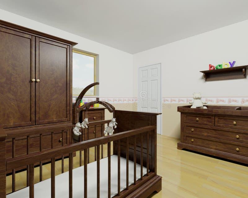 Nursery interior stock illustration