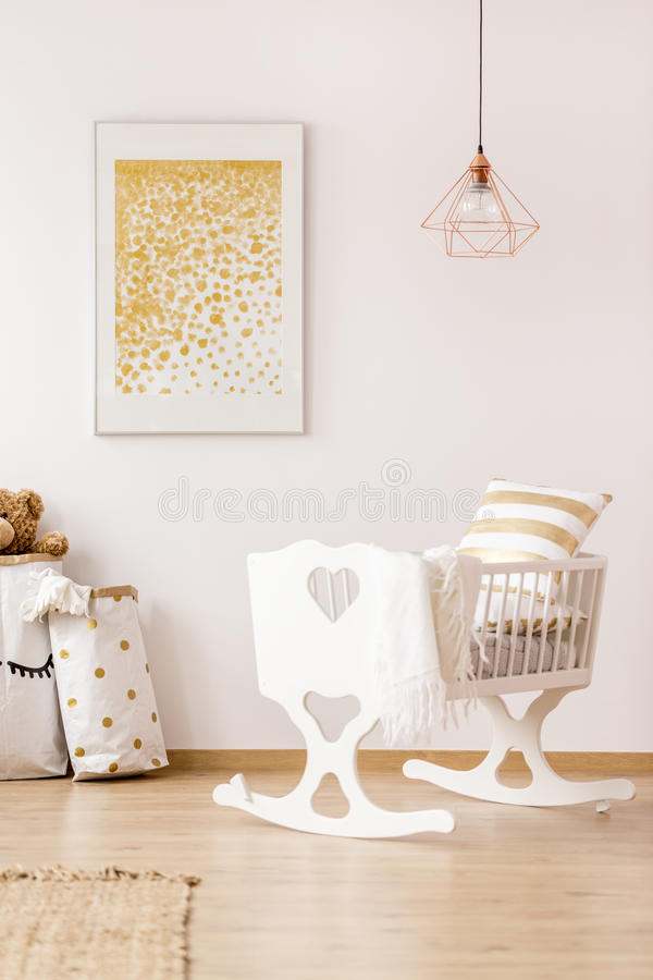 Nursery room with cradle royalty free stock image