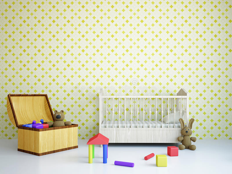 Nursery With A Bed Royalty Free Stock Image