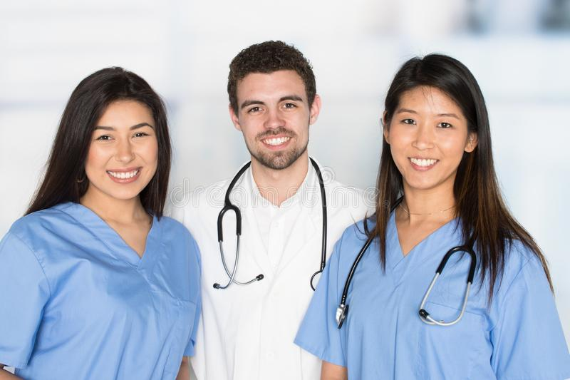 Nurses and Doctor In Hospital. Nurses and doctor who are working their shift in a hospital royalty free stock photos