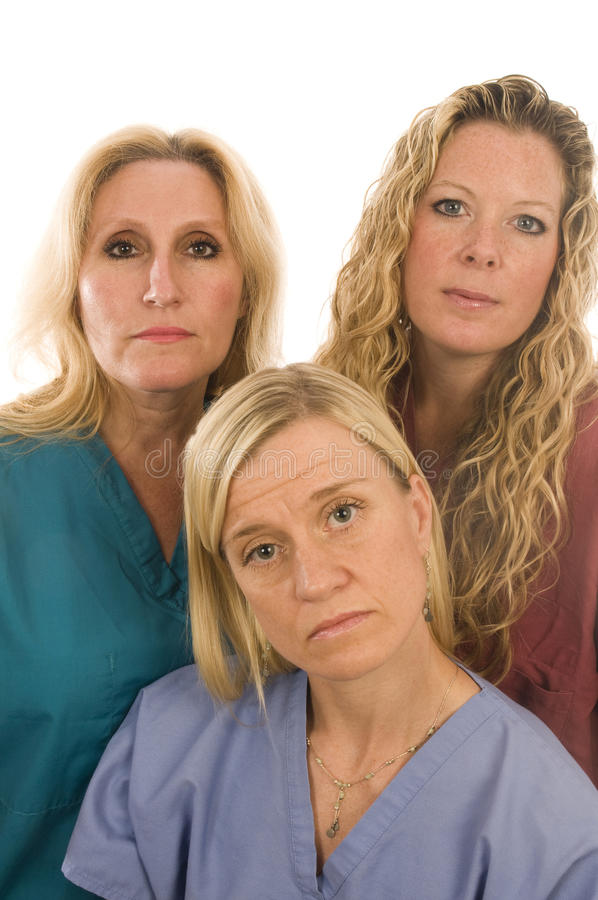 Download Nurses Medical Females Serious Expression Stock Photo - Image: 10484946