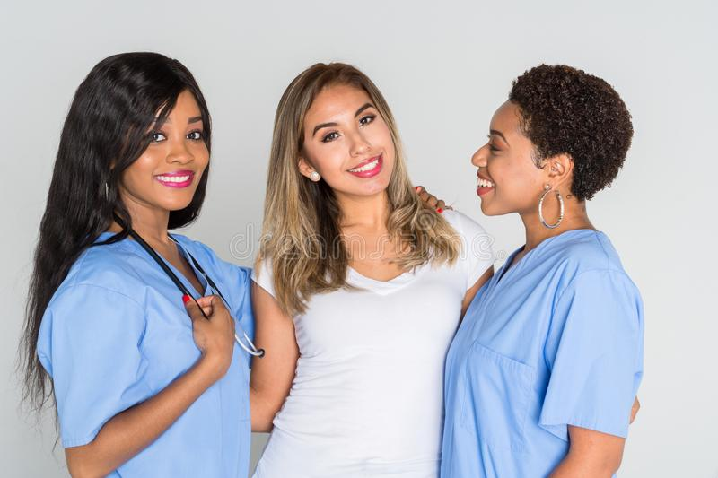 Nurses With A Patient royalty free stock images