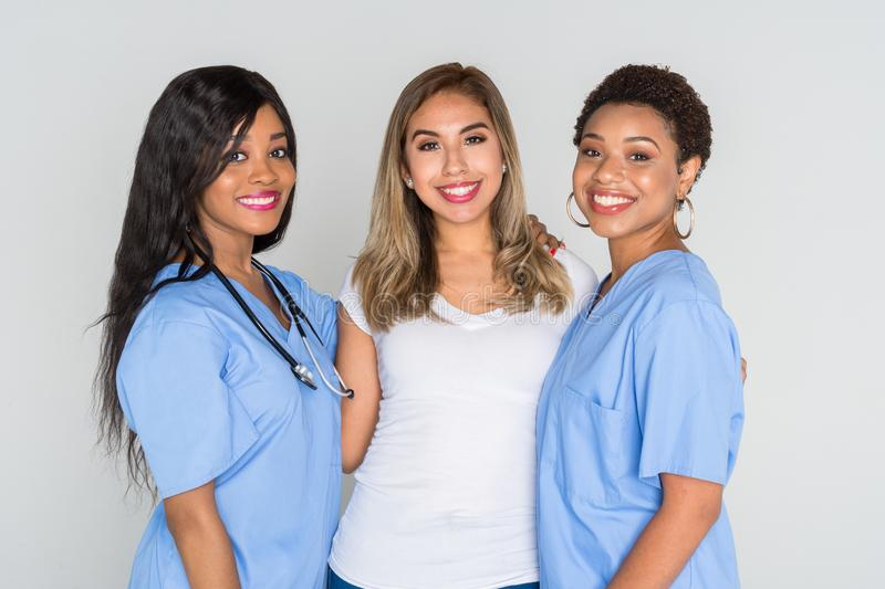 Nurses With A Patient royalty free stock photo