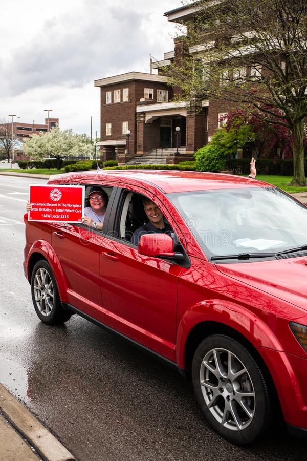 Nurses on strike Toledo Oh stock images