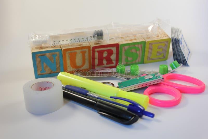 A Nurses Tools of the Trade stock photos