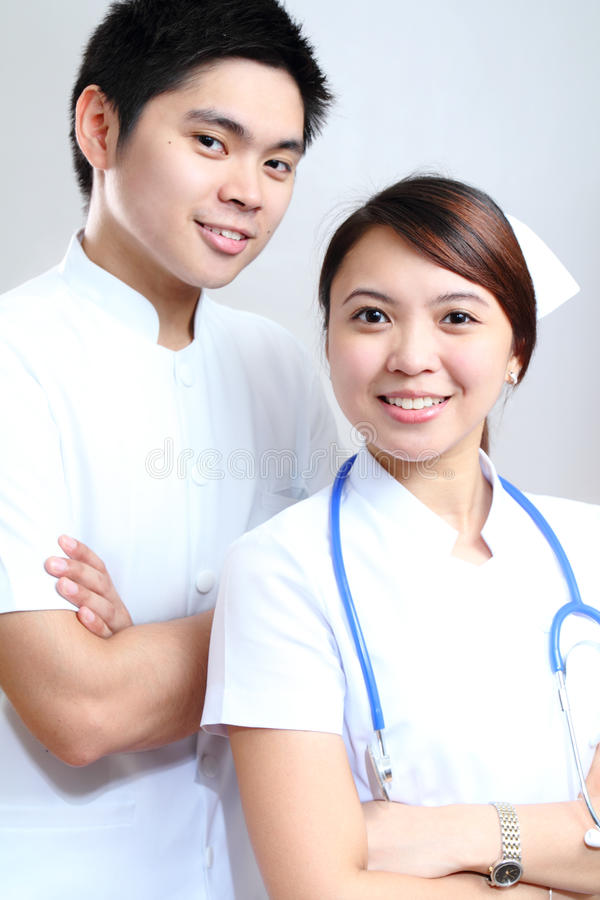 Nurses in white royalty free stock image