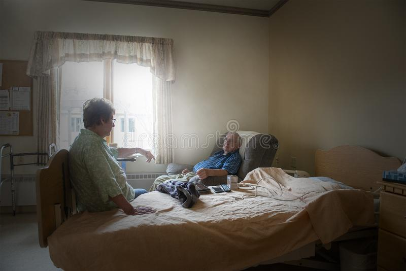 Nursing Home, Assisted Living, Elderly Couple royalty free stock photos
