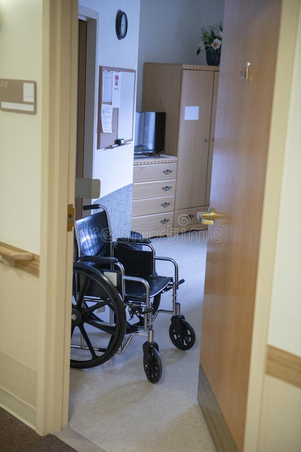Nursing Home, Assisted Living, Wheelchair, Healthcare, Room royalty free stock photo