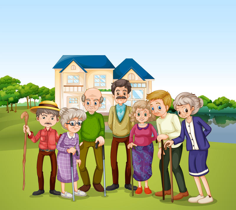 Nursing home royalty free illustration