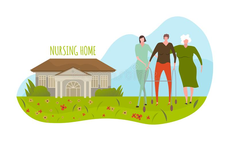 Nursing Home Building Stock Illustrations 82 Nursing Home