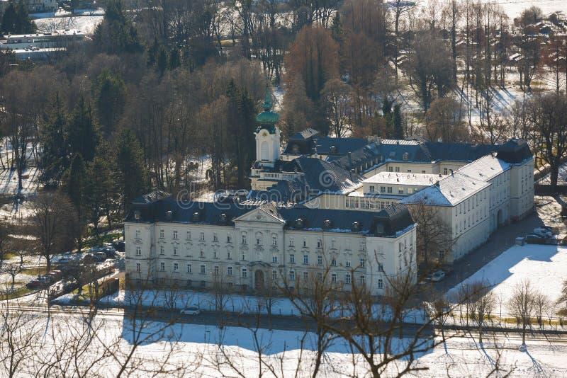 Nursing House in Salzburg. Salzburg, Austria - January 07 2016: View of the Nursing House from top of Hohensalzburg Castle royalty free stock photo