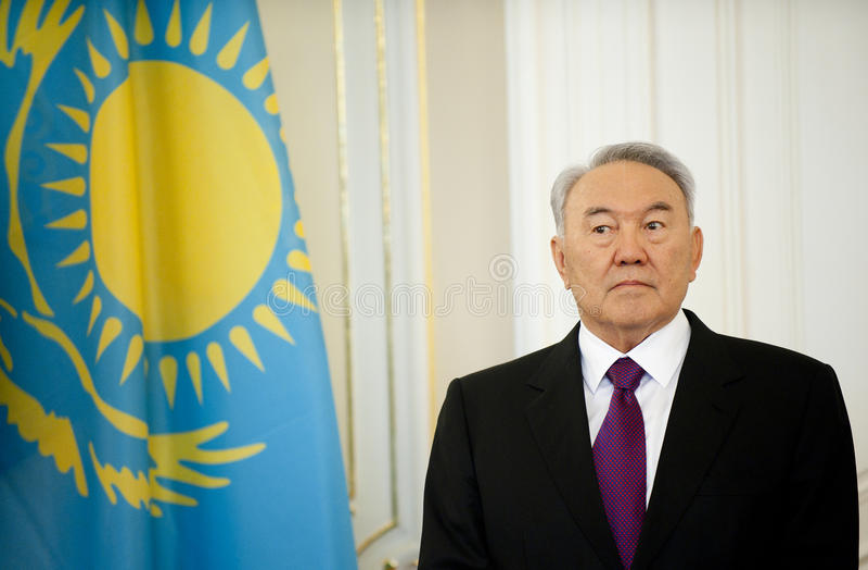 Nursultan Nazarbajev imagens de stock royalty free