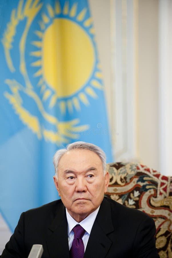 Nursultan Nazarbajev royalty-vrije stock afbeelding