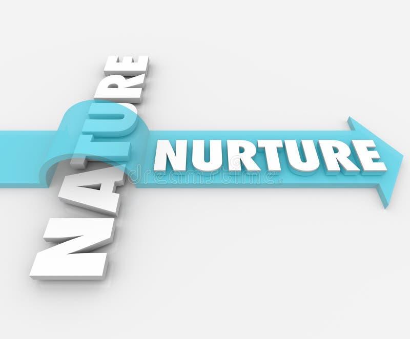 Download Nurture Vs Nature Arrow Over Word Psychology Stock Illustration - Illustration of influencing, nurture: 31478523