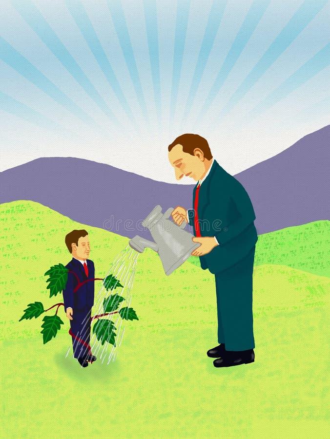 Nurturing Talent Concept. Digital Painting stock illustration