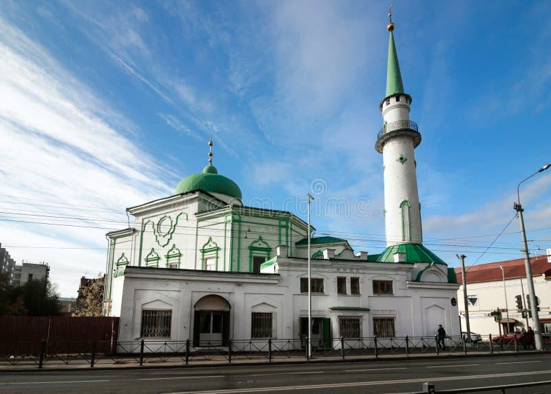 Nurulla-Moschee ist ein religiöses Gebäude, das in der Mitte historischen Hay Bazaars errichtet wird stockfoto