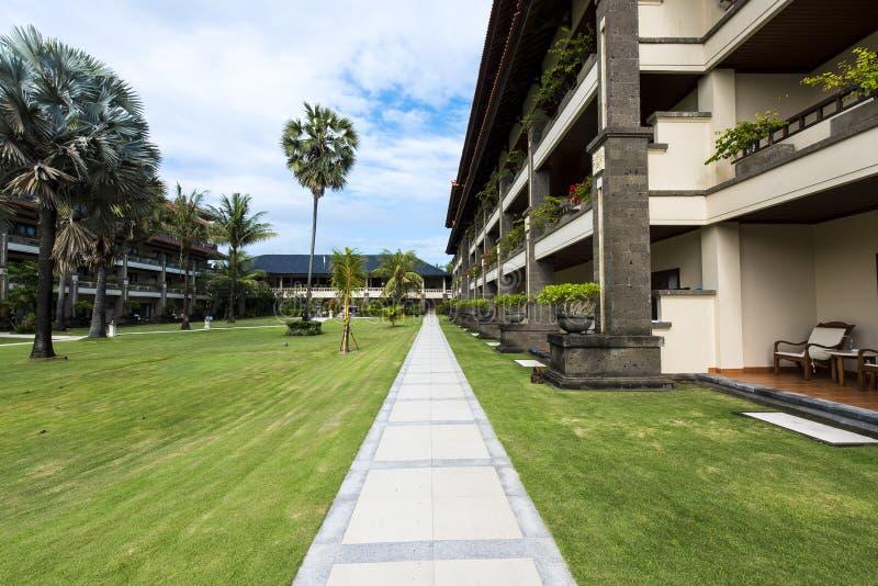 Nusa dua plaży hotel obraz stock