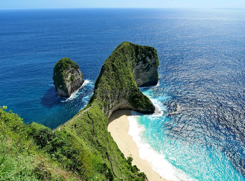 Nusa Penida Island nice ocean view nice beach Bali. Indonesia Landscape royalty free stock photo