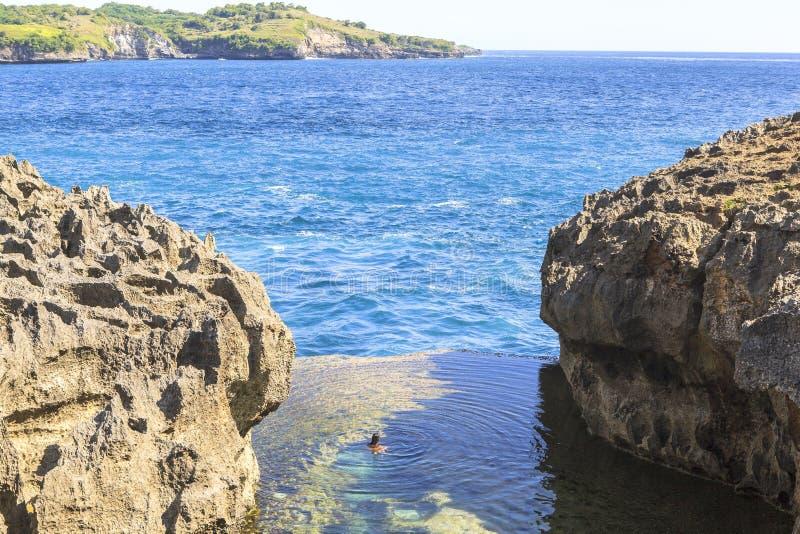 Amazing landcape in Nusa Penida Island in Bali royalty free stock photo
