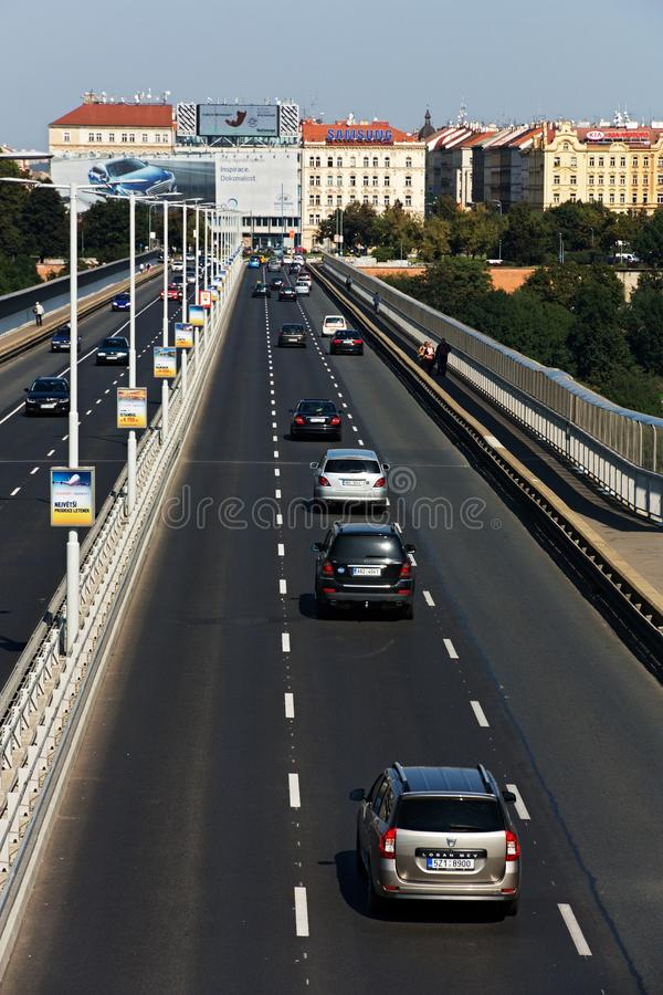 Nuselsky bridge royalty free stock images