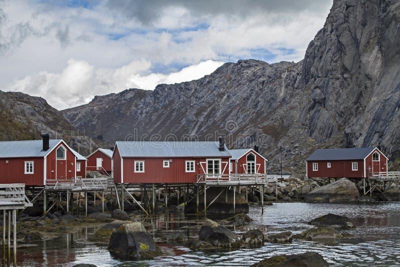 Nusfjord lizenzfreies stockfoto