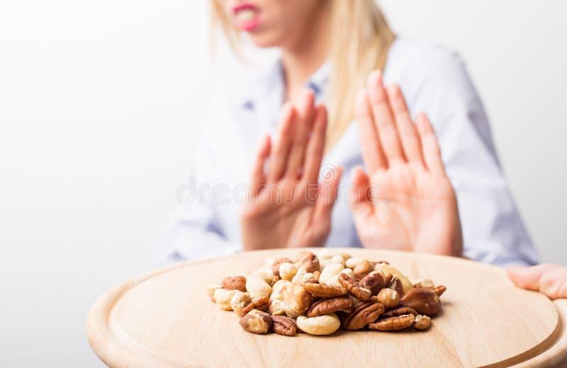 Nut allergies stock photos