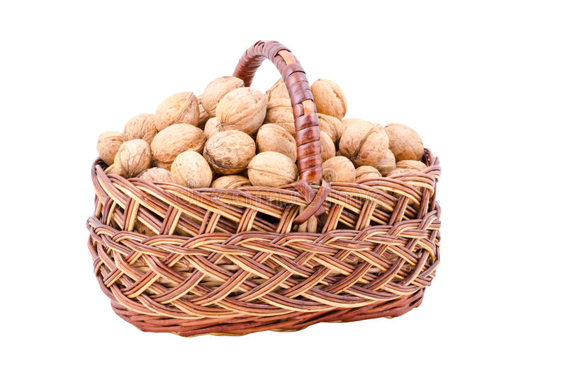 Nut In Basket Stock Photography