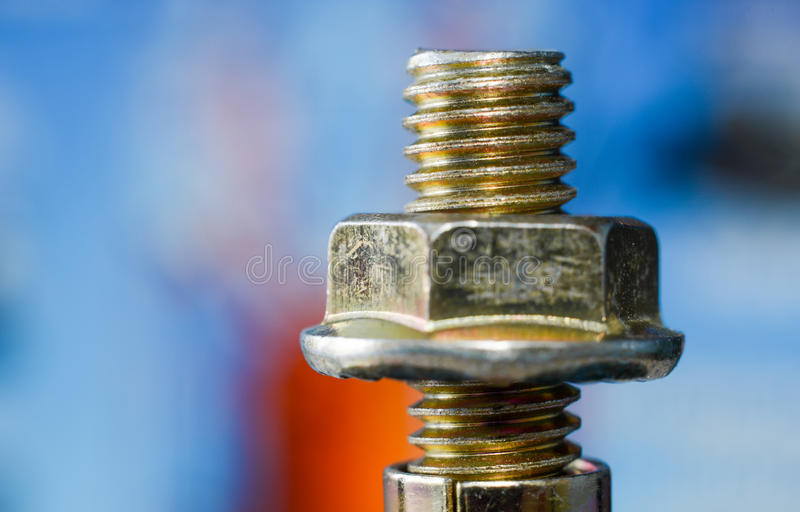Nut and bolt royalty free stock images