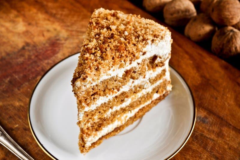 Nut cake royalty free stock images
