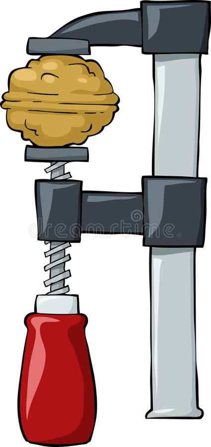Download Nut in clamp stock vector. Image of cute, eating, strong - 23519028