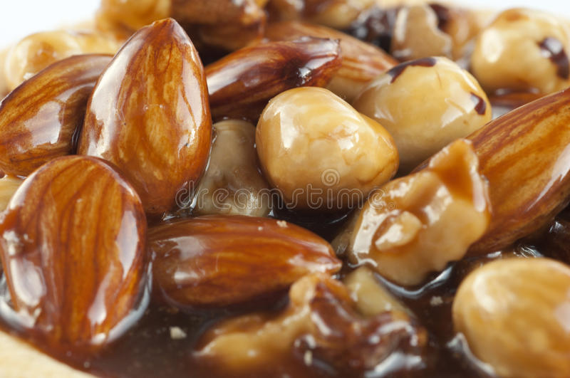 Download Nut glaze stock photo. Image of macro, cake, sugar, almond - 17050934