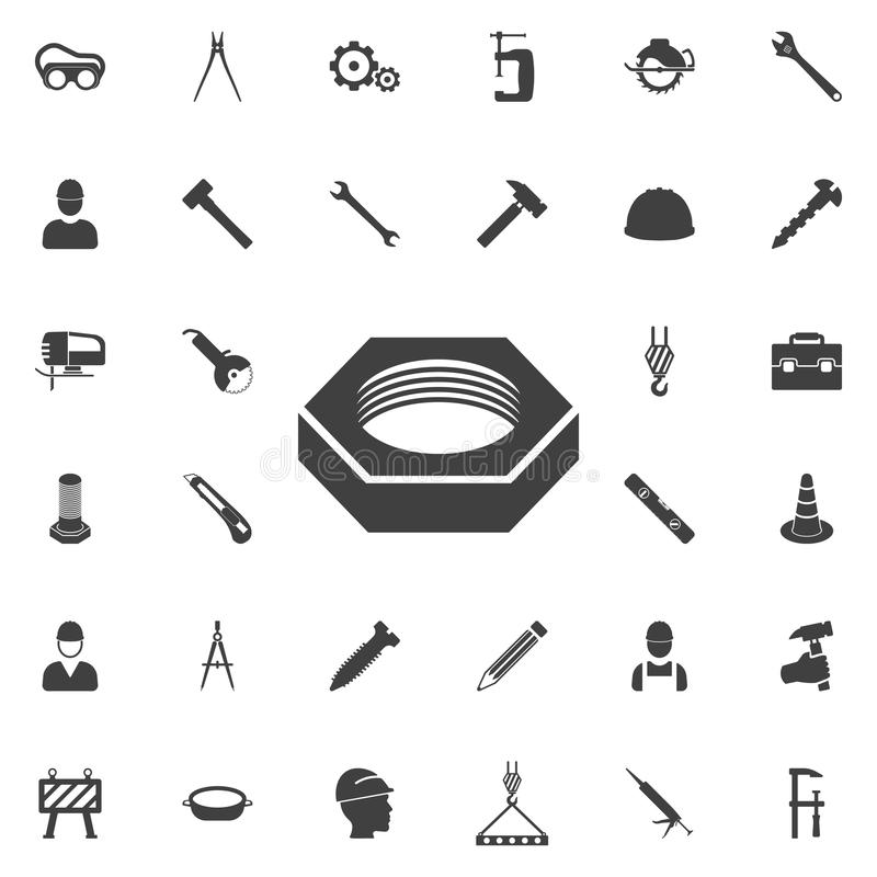 Nut icon. Construction icons universal set for web and mobile vector illustration