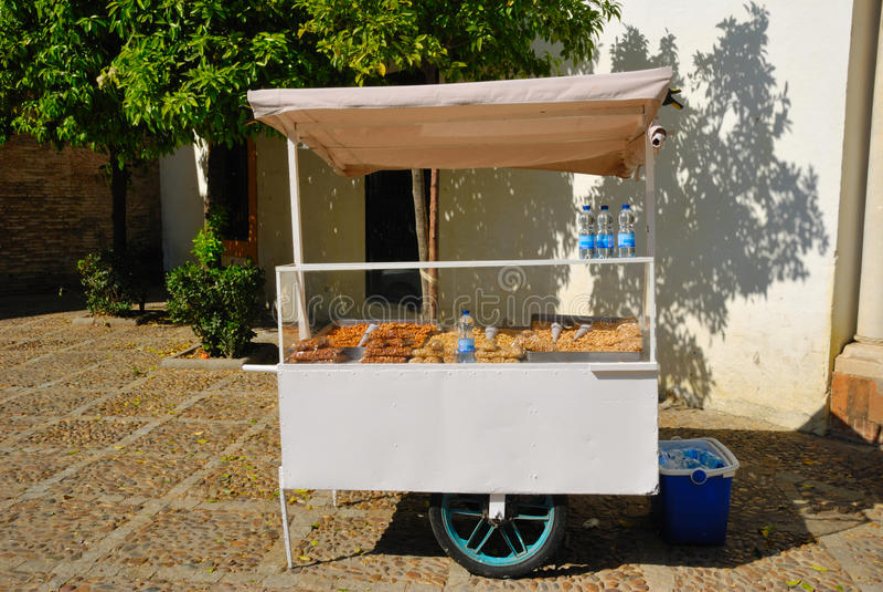 Nut kiosk royalty free stock photos