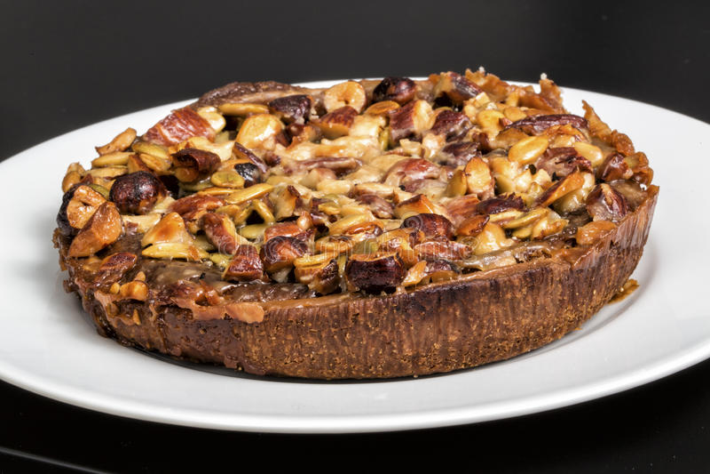 Nut & Marzipan Torte royalty free stock photos