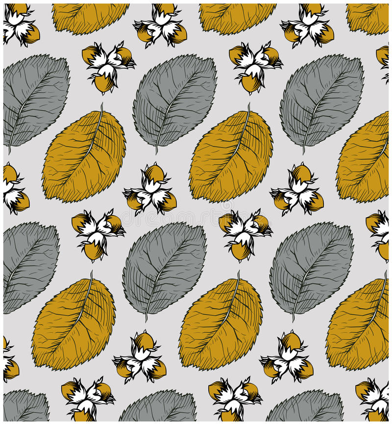 Download Nut pattern stock vector. Image of retro, decoration - 19606063