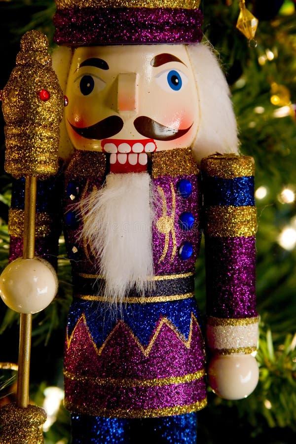 Nutcracker king, wood toy royalty free stock photography
