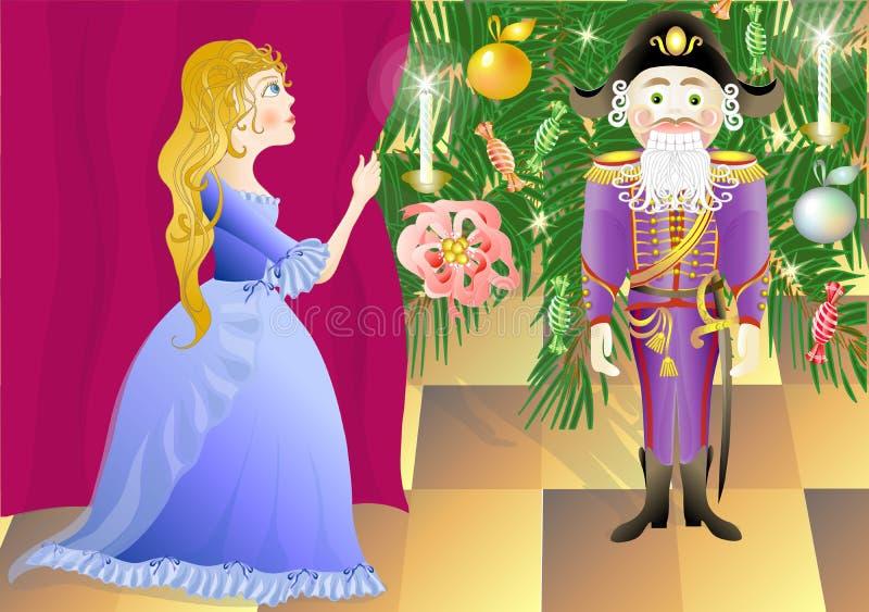 Nutcracker and princess Mari (vector)