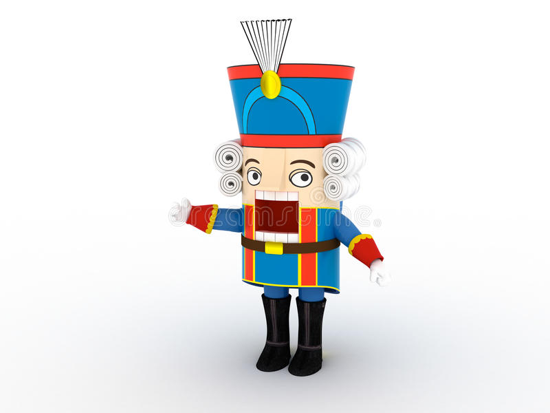 Nutcracker statuette | 3D royalty free illustration