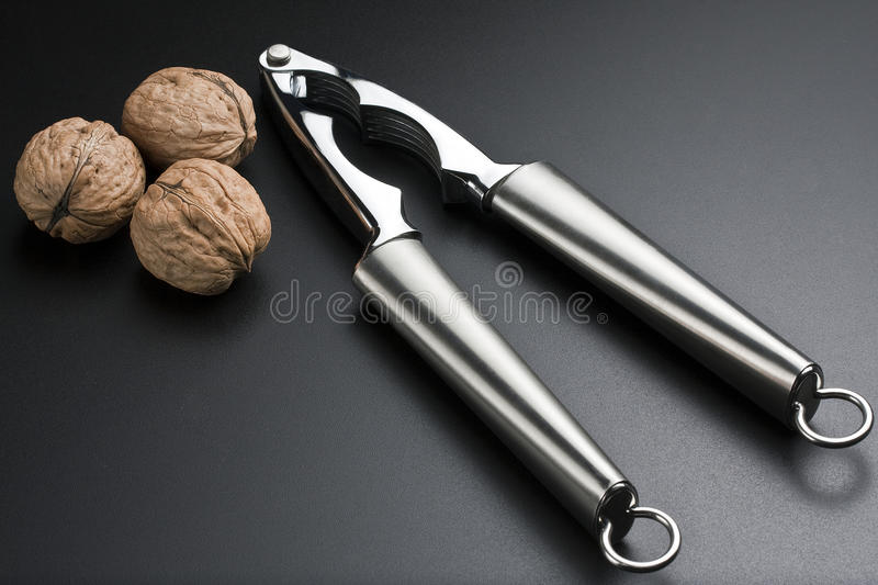 Nutcracker with Walnuts stock images
