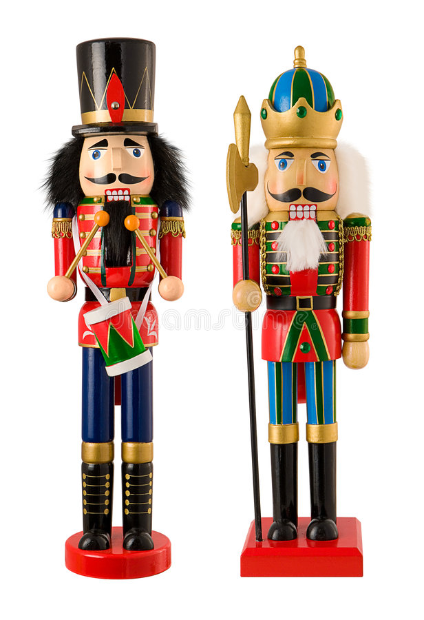 Nutcrackers. Isolated against a white background. Isolation is on a transparent layer in the PNG format stock images
