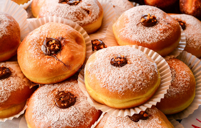 Nutella buns royalty free stock photo