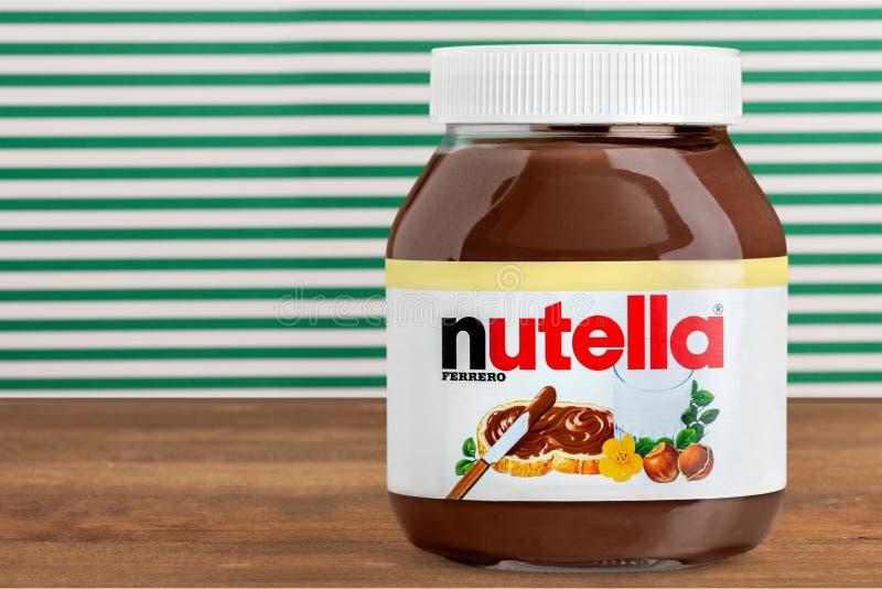 Nutella-Glas stockbilder