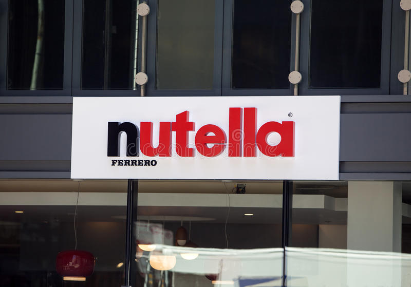 Nutellakoffie in Chicago stock afbeelding