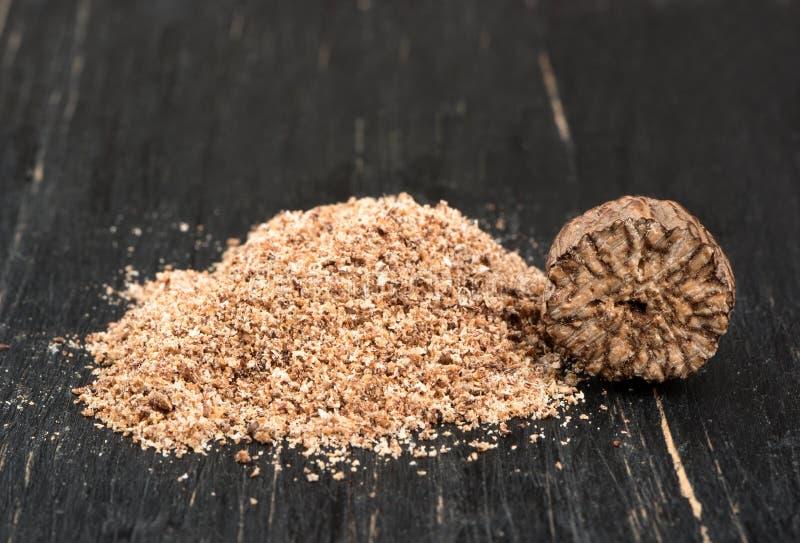 Nutmeg powder stock photography